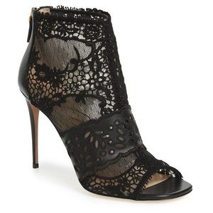 Never worn Valentino Lace Bootie US 7.5